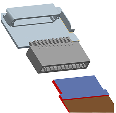 ZIF New type connector assembly drawing
